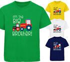 BOYS I'M THE BIG BROTHER TRACTOR T-SHIRT FUN T SHIRT GIFT AGES 1-12