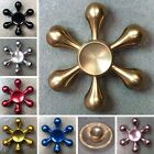 Tri Fidget Hand Spinner Triangle Rudder Metal Colorful Finger Toy EDC Focus ADHD