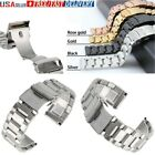 Stainless Steel Metal Bracelet Replacement Watch Band Wrist Strap 18 20 22 24mm image
