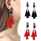 Women Rhinestone Long Tassel Dangle Earrings for Women Thread Fringe Drop Gifts