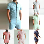 Stylish Men Short Sleeve Pants Casual Shorts Jumpsuit Playsuits Rompers Bodysuit