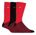 Coca Cola - 3 Pack Mens Red Black Striped Logo Novelty Cotton Crew Dress Socks