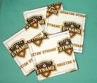 drink party COASTER SET of 4 - KEYCHAIN key ring HOUSTON DYNAMO Soccer Club MLS