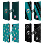 OFFICIAL NFL 2017/18 MIAMI DOLPHINS LEATHER BOOK WALLET CASE FOR SONY PHONES 1