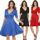 New Stylish Lady Women's Fashion Half Sleeve V-Neck Sexy Dress DZ88