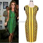 New Fashion Women Geometric Print Sleeveless Bodycon Pencil Slim Sexy DZ88