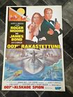 JAMES BOND 1977 THE SPY WHO LOVED ME RE-RELEASED FINLAND ISSUE MOVIE POSTER £9.99 GBP