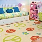 KIDS RUGS KIDS AREA RUG CHILDRENS RUGS PLAYROOM RUGS FOR KIDS ROOM PEACE FLOWER~