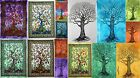 Indian Tree Cotton Yoga Mat Small Tapestry Ethnic Table Cover Wall Hanging Decor