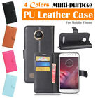 Moto Motorola Z2 Play Leather Case PSC Cover Skin Card Pouch Wallet Stand Folio