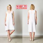 Elvie Leo Top Designer Label Dress White Black Womens Women Ladies Size Linen 2