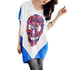 Women Round Neck Floral Prints Letters Casual Loose Top Shirt