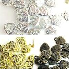 """24pcs 12x9x1mm """"Made with Love""""  Heart Charms Pendant Bronze,Copper,Gold,Silver"""