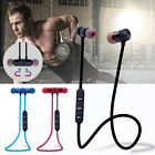 Wireless Bluetooth 4.1 Magnetic Sports Earphone Headset Stereo Headphones Mic