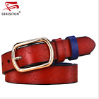 New Belt Genuine Leather Belts 5 Floral Carved Thin Woman Colour Fashion