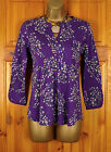 NEW WHITE STUFF LADIES PURPLE FLORAL 3/4 SLEEVE SUMMER SHIRT BLOUSE TOP UK 6-18