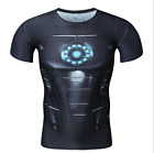 New Men's Compression Marvel Superhero Top Print T-shirts Gym Fitness Sports