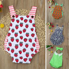 Newborn Infant Jumpsuit Baby Girl Floral Striped Romper Sunsuit Outfits Clothes
