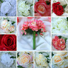 Silk Roses and Hydrangea Flowers Bouquets Wedding Centerpieces Decorations SALE