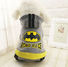 New Batman Pet Dog Hoodie Autumn Winter Coat Warm Clothing Outdoor Costume