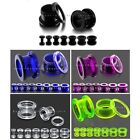 Acrylic Flesh Tunnel - Screw-Fit Ear Plug Stretcher Expander - Choice of Sizes