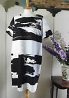 FRANSA SHIFT DRESS ABSTRACT BLACK WHITE BLUE WORK BUSINESS SIZE S M L BNWT X