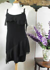 VANILLA NIGHTDRESS NIGHTIE SLEEVELESS BLACK FLOATY SHORT SIZE S M L XL BNWT X