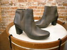Clarks Grey Leather Promise Camp Ankle Boot NEW