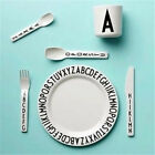 Kid Letter Plates Child Snack Fruit Number Plate Baby Safety Feeding Tableware