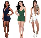 Womens Stretch Bodycon Bodysuit Outfits Clubwear Party Cocktail Jumpsuit Romper