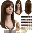 NEW WOMEN'S LONG STRAIGHT SIDE FRINGE SYNTHETIC FULL HEAD WIG NATALIE