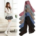 lace knitting - Women Lace Knitting Cotton Over Knee Thigh Stockings High Socks Pantyhose Tights