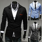 Stylish Men's Casual Slim Fit Formal Two Buttons Suit Blazer Coat Jacket Tops