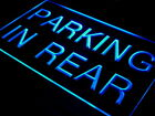 i425-b Parking In Rear Car Display NEW Neon Light Sign