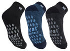 Heat Holders  - Mens Non Slip Thermal Low Cut Ankle Slipper Socks with Grips