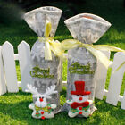 Christmas Decoration Snowman Embroidery Red Wine Champagne Bottle Cover Sets SU