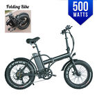Fat Tire Electric 20'  E Bike Bicycle 500watts 48v LED  Folding SAMSUNG Battery