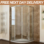 Quadrant Shower Cubicle Enclosure and Tray Walk In Corner Glass Door+Waste