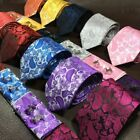 Fashion Woven Silk Necktie HandMade Mens Tie Cufflinks And Handkerchief Gift Set
