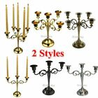 3/5 Arms Metal Candle Holder Candelabra Alloy Crafts Stand Wedding Home Decor