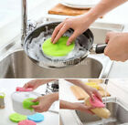 1PC Round Silicone Sponge Scrubber Fruit Dish Brush Cleaning Kitchen Tools