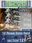 4 TICKETS~LL DALLAS COWBOYS VS. N.Y. GIANTS-Home OPENER 9-10-17~12 rows to Field