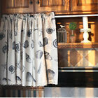 Village Cotton linen block lace Home Kitchen blinds Cafe Curtain shell conch