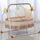 Big Space Electric Baby Crib Cradle Infant Rocker Auto-Swing Baby Cradle US hot
