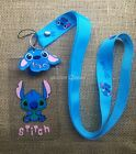 lot Cartoon stitch key chain Cute Lanyard ID Badge Holder Key Neck Strap