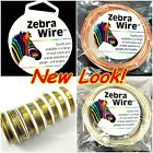 Zebra Wire Gold/Silver/Copper Round spool 12,14, 16, 18, 20, 22, 24, 26 28Gauge