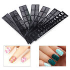 Stamping Nail Art Template Stickers Stamp Stencil Guide Reusable Tips DIY Tool