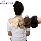 Women Synthetic Drawstring Bun Curly Hairpieces Wavy Hair Messy Chignon Bun Updo