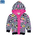New winter jackets striped kids coat baby girl fashion winter hoody Kids Clothes