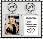 Abigail Breslin Keychain Key Ring - Many Designs To Choose From